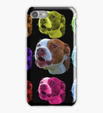 pitbull dog art 7769  iPhone Case/Skin