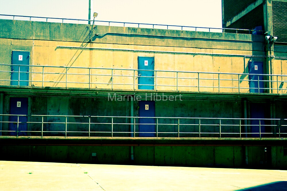 The blue door by Marnie Hibbert