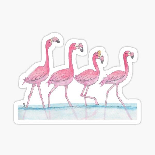 Flamingo or freedom Sticker