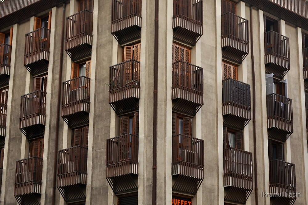 Brown Balconies by Ikramul Fasih