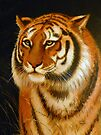 TIGER  ( Acrylic painting on canvas. ) by Elaine Bawden