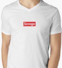 Supreme savage line Men's V-Neck T-Shirt