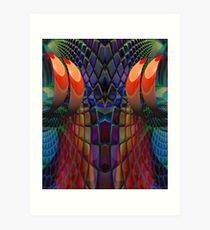 Wizzard threads! Art Print