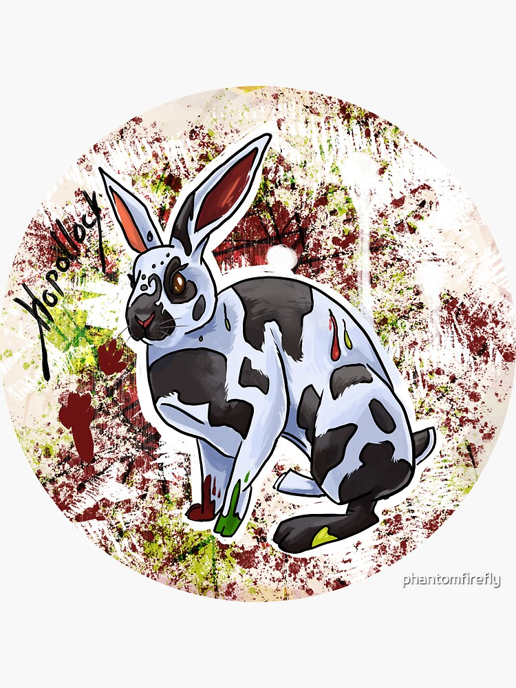Hopollock the Rabbit Artist by phantomfirefly