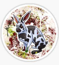 Hopollock the Rabbit Artist Sticker