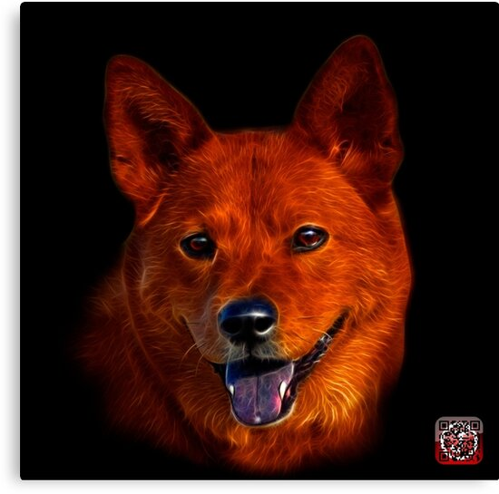 Shiba Inu Dog Art - 8555 by Rateitart