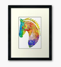 Horse Colorful Silhouette Framed Print