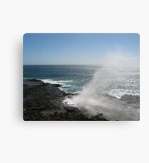 Kauai blowhole Canvas Print