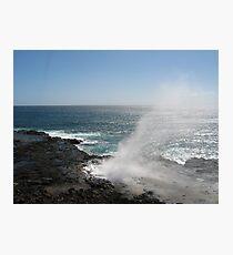 Kauai blowhole Photographic Print