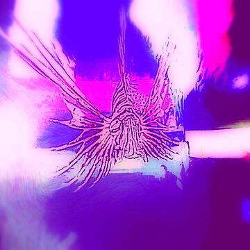 lion fish in purple pink light by almawad