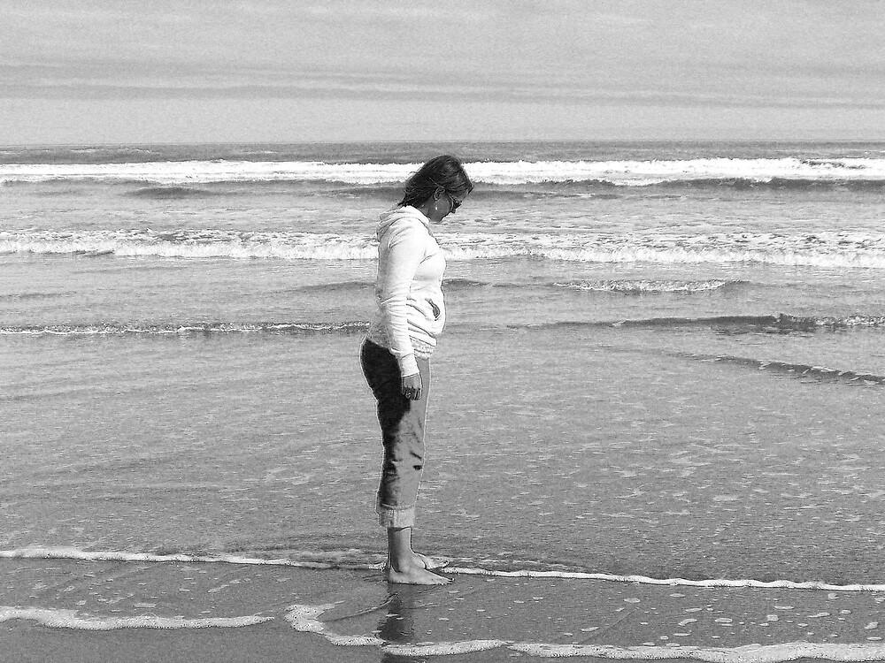 Me @ the beach by ajyenney