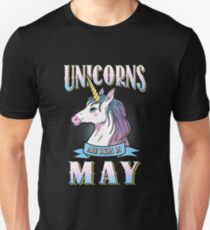 Unicorns Are Born in May Unisex T-Shirt
