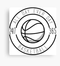 Basketball All Day Everyday Canvas Print