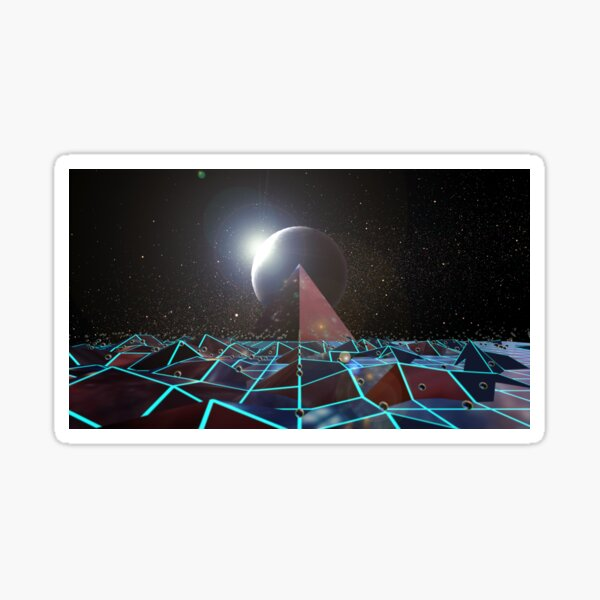Surreal Space Landscape Scene Sticker