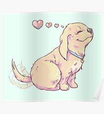 Romantic Pup Poster