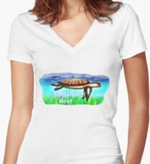 Ningaloo Reef Women's Fitted V-Neck T-Shirt