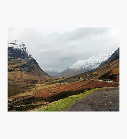 Glencoe Mountains, Scotland Photographic Print
