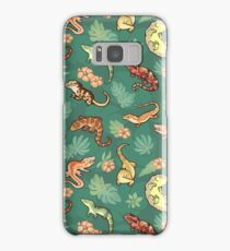 Gecko family in green Samsung Galaxy Case/Skin