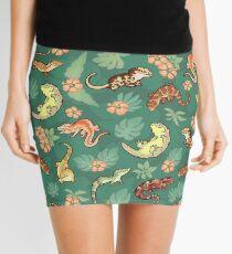 Gecko family in green Mini Skirt