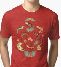 Camiseta de tejido mixto Familia Gecko en amarillo