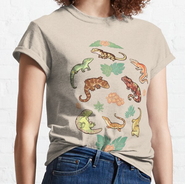 Geckofamilie in Gelb Classic T-Shirt