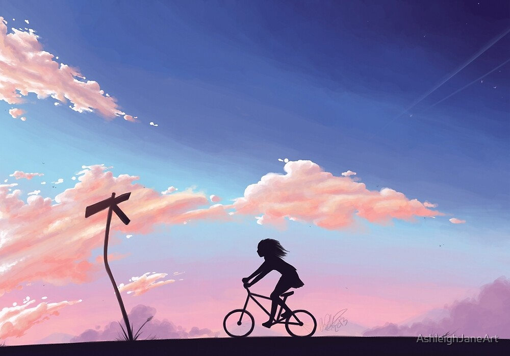 Riding Home by AshleighJaneArt