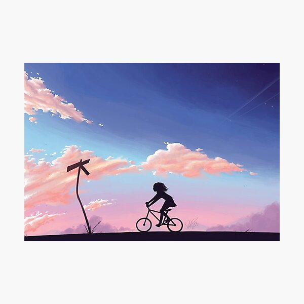 Riding Home Photographic Print