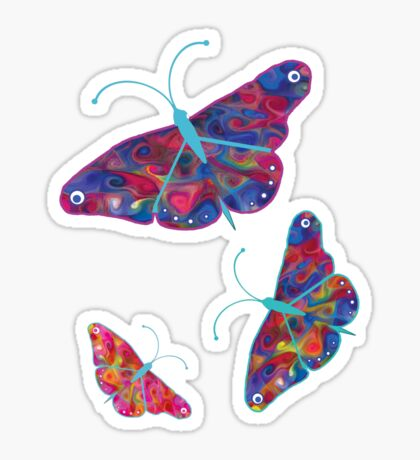 butterfly tee Sticker