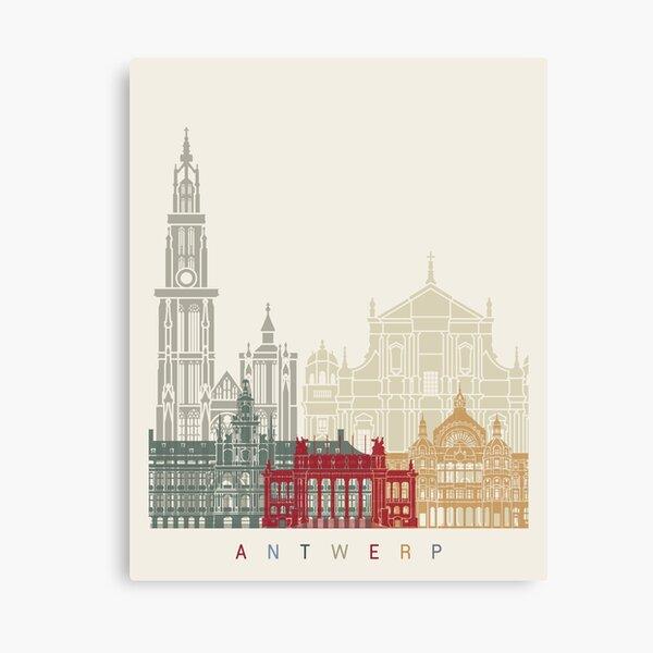 Cartel de horizonte de Amberes Lienzo