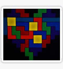 Tetris Heart - Dark Edition Sticker