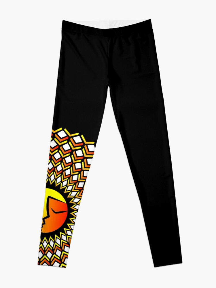 Alternate view of Ethnic ornament of the sun and moon in one person Leggings