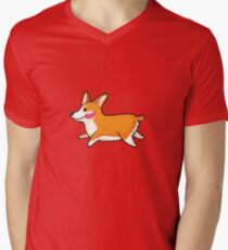 Corgi Men's V-Neck T-Shirt