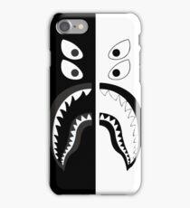 Black White Bape Shark iPhone Case/Skin