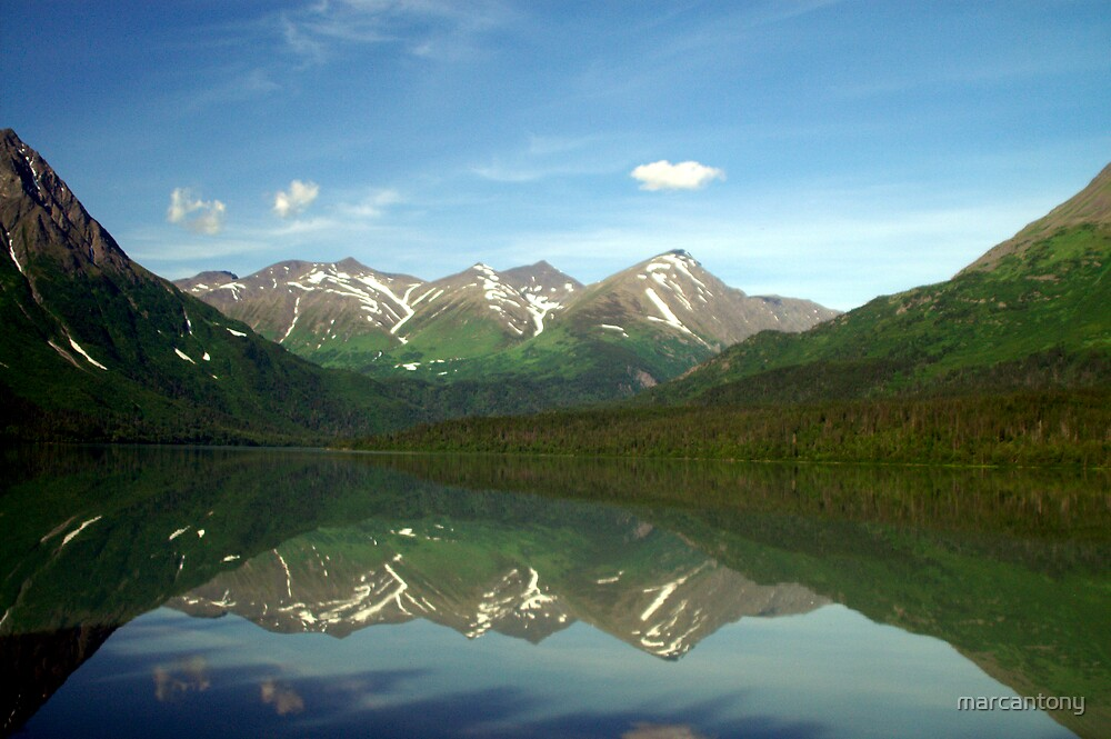 Alaskan Lake View by marcantony