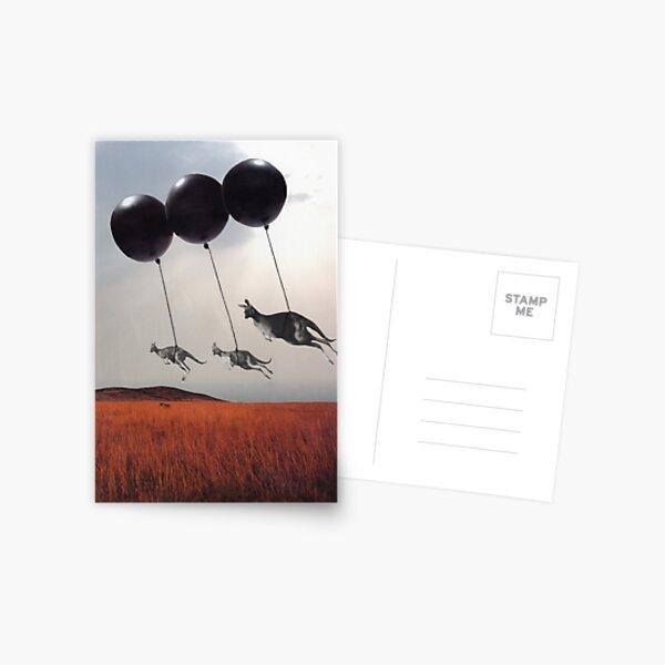Black Balloons Postcard