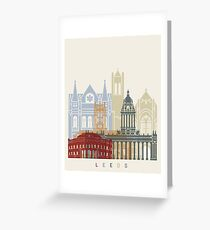 Leeds skyline poster Greeting Card