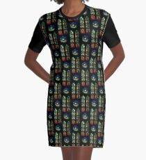 Stained Glass Windows - Sagrada Familia, Barcelona, Spain Graphic T-Shirt Dress