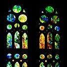 Stained Glass Windows - Sagrada Familia, Barcelona, Spain by Georgia Mizuleva