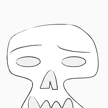 Sad Skull by ryanpederson