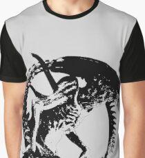Alien Black & White Graphic T-Shirt