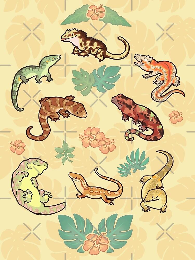 «Familia Gecko en amarillo» de Colordrilos