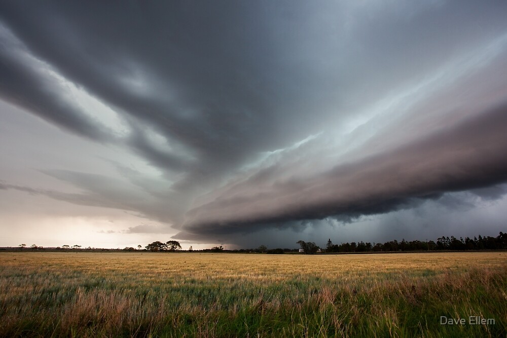 Storm front advances over farmland near Casino, NSW by Dave Ellem