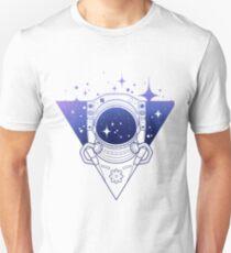 Graphic austronaut in triangle Unisex T-Shirt