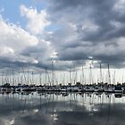 Soft Silver - Reflecting on Boats and Clouds by Georgia Mizuleva