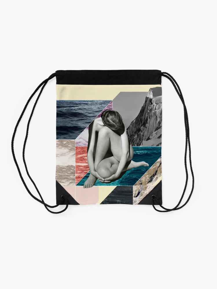 Alternate view of Social Anxiety Drawstring Bag