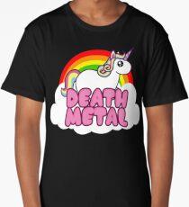 Death Metal Unicorn Long T-Shirt