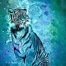 watercolor tiger by Ancello