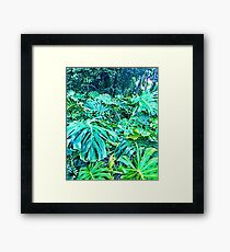 Tropical Jungle Greenery Framed Print