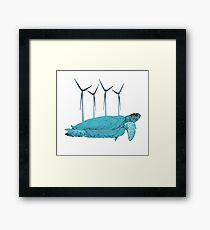 Eco Turtle Framed Print