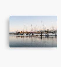 Feeding Fish - Early Morning Marina at Portimao Portugal Canvas Print